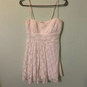 White flower lace dress